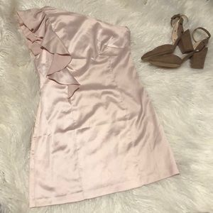 3/$20 FOREVER 21 PINK ONE SHOULDER DRESS D2